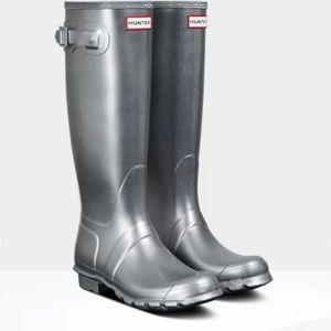 HUNTER Cosmic Wellington Boot women's size 7 BNWOT